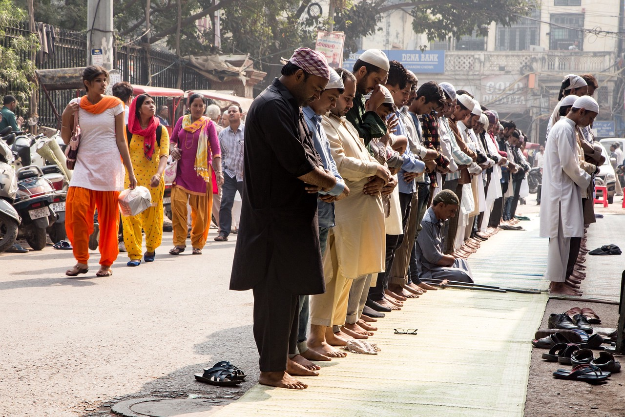 Call to Prayer outside of India's largest mosque, Jama Masjid