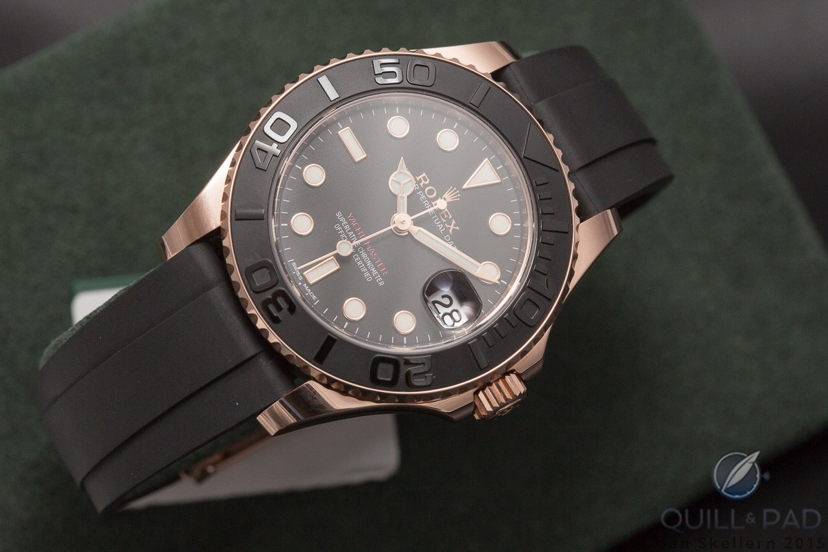 Rolex Yacht-Master on rubber strap