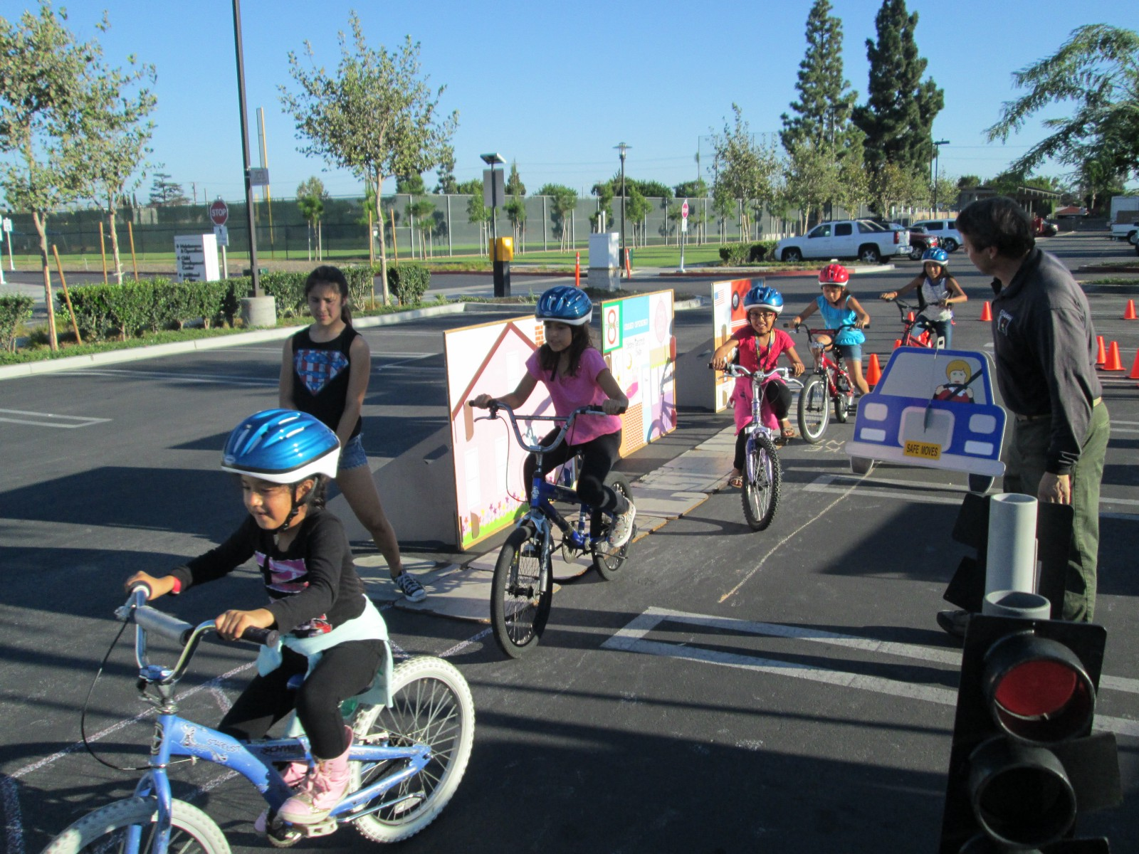 Bicycle Safety Rodeo at Santa Ana College.