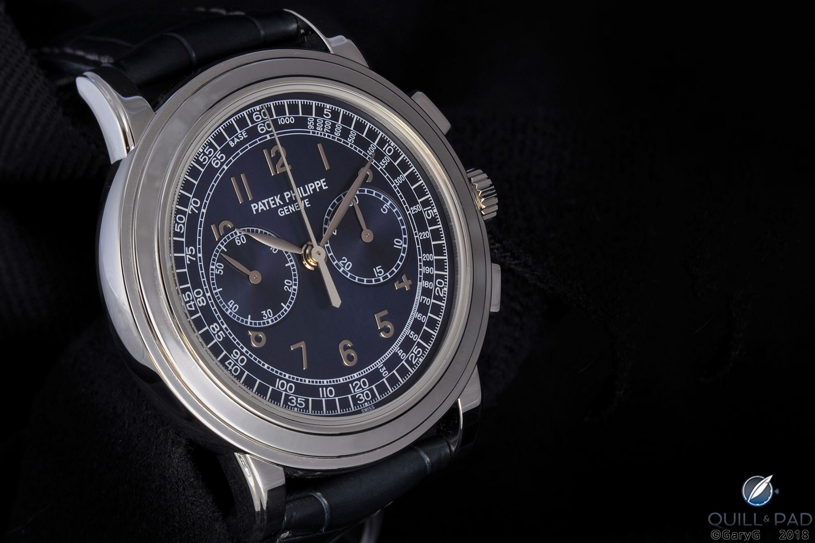 Captivating form and color: Patek Philippe Reference 5070P chronograph