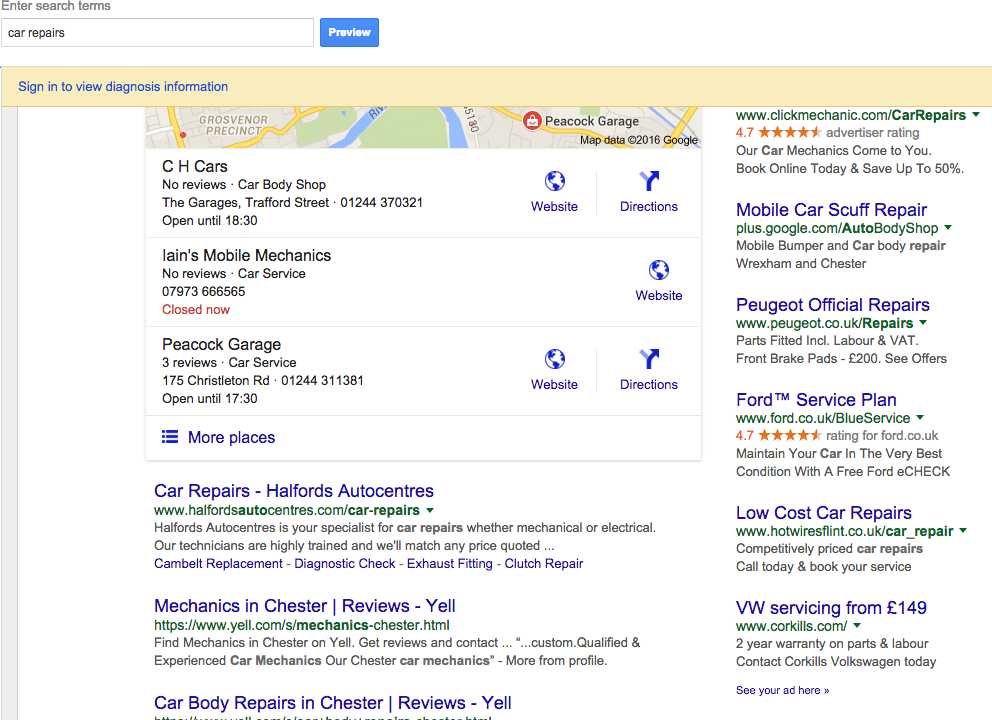 SEO local based searches