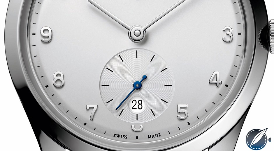 A close look at the dial details of the Ulysse Nardin Classico Paul David Nardin