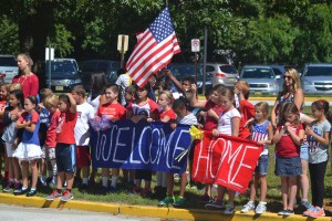 The students of Jaggard Elementary School held their annual Patriot Day parade on Sept. 12. They also held a surprise welcome home event for returning Marine Lance Corporal Glenn Hoopes Jr., son of school physical education teacher Glenn Hoopes Sr. The military appreciation event was just one of dozens organized throughout the year by the Marlton based charity Operation Yellow Ribbon of South Jersey.