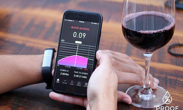 New wristband monitors blood alcohol level and displays it in an app  #IoT #CES2017
