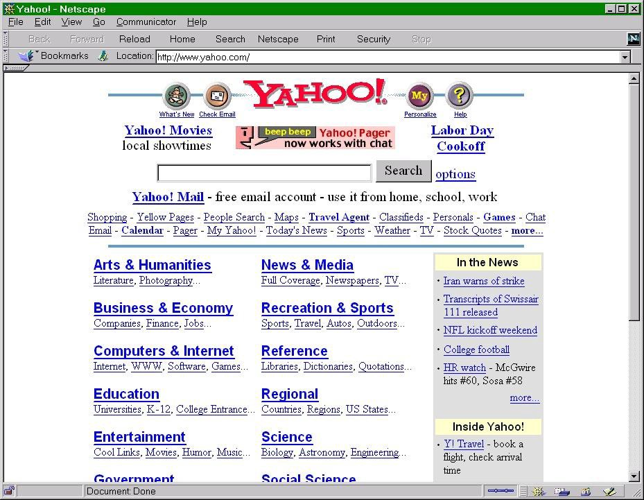 Bon In The Late 90s, Startups Raised Money Specifically So They Could Buy  Banner Ads On Yahoo. It Was The Best Way They Could Reach Prospective Users.