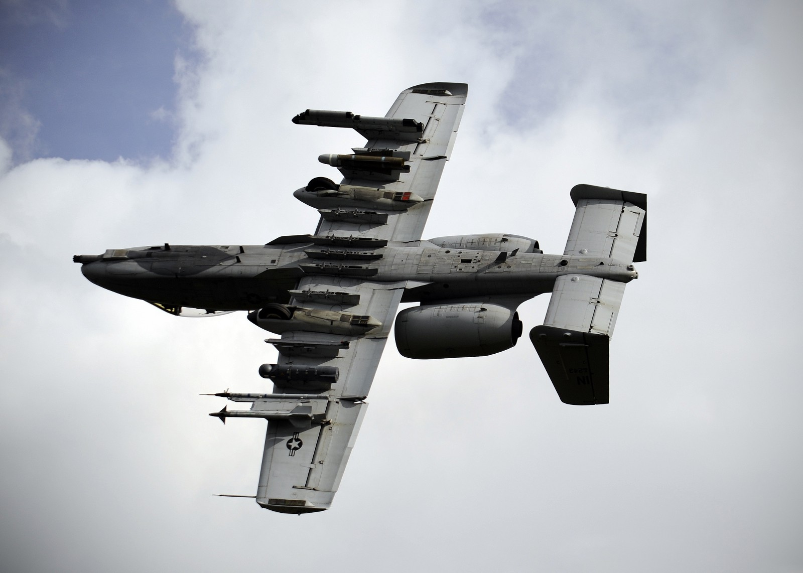 The venerable A-10 during a training exercise. Air Force photo