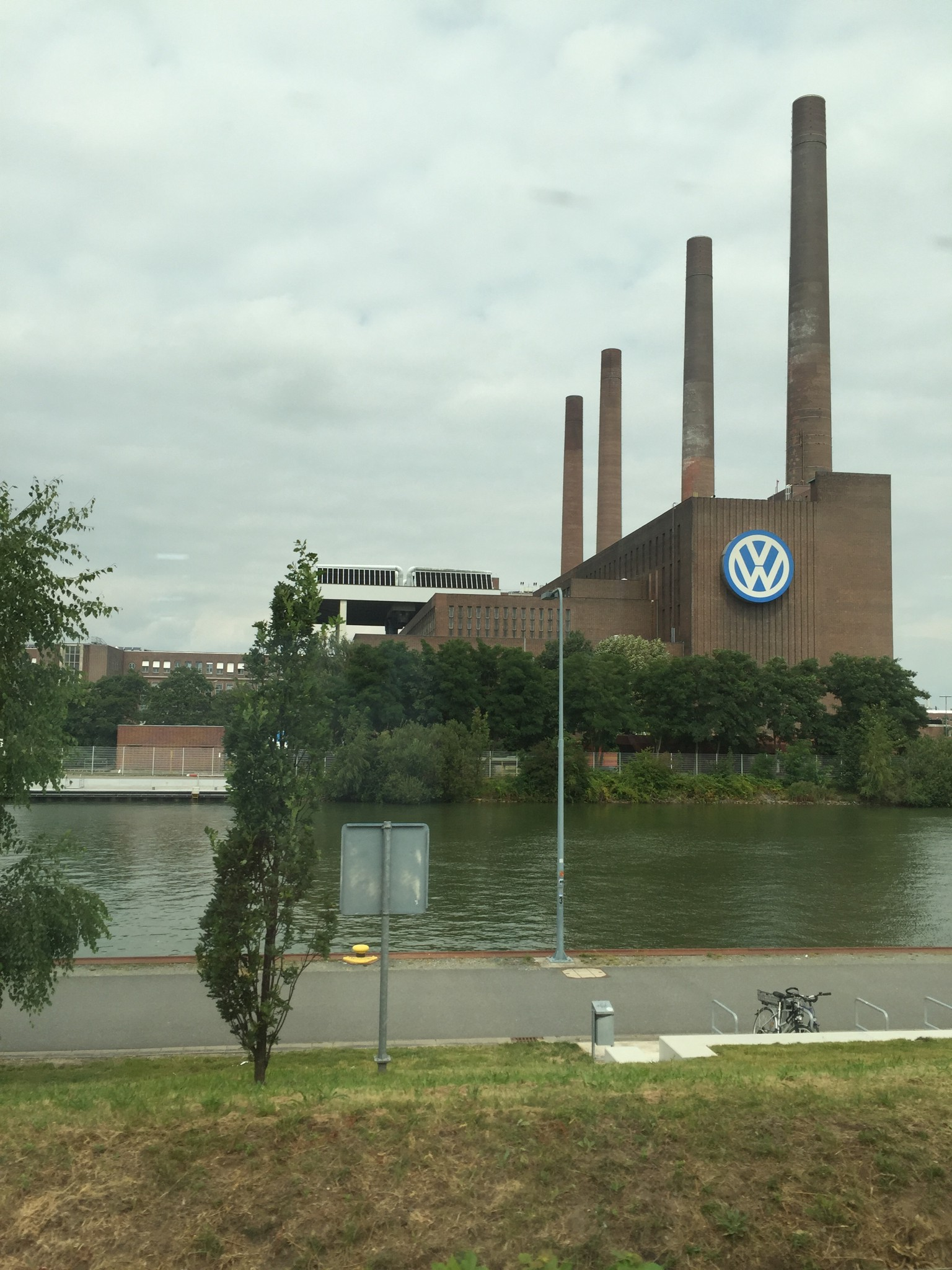 A very small portion of the Volkswagen plant in Wolfsburg