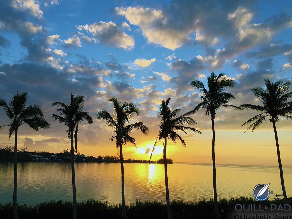With the very changeable weather in Bermuda come spectacular sunsets at times