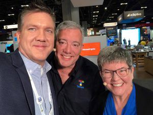 Hanging out with Paul Thurrot and Mary Jo Foley at MSIgnite