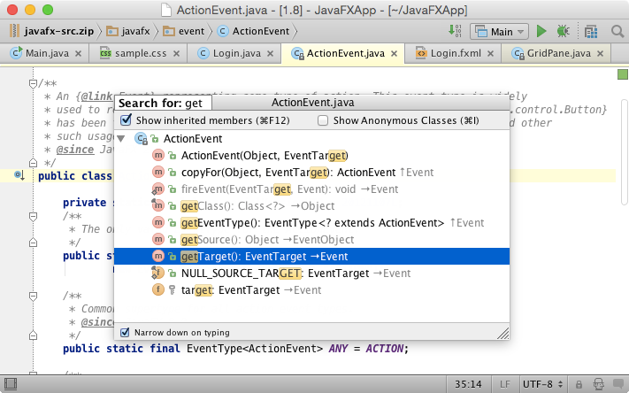 Top 20 navigation features in intellij idea andrey cheptsov medium for example the java class structure may include the structure of superclasses or interfaces by default intellij idea hides the members of superclasses ccuart