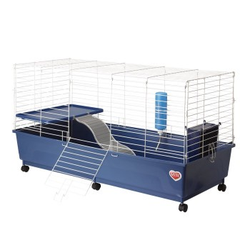 Kaytee My First Home Rabbit 2 Level Cage with Caster Wheels