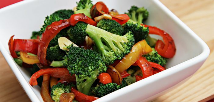 broccoli and bell pepper for cold