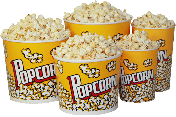 Different Sizes of Popcorn Buckets
