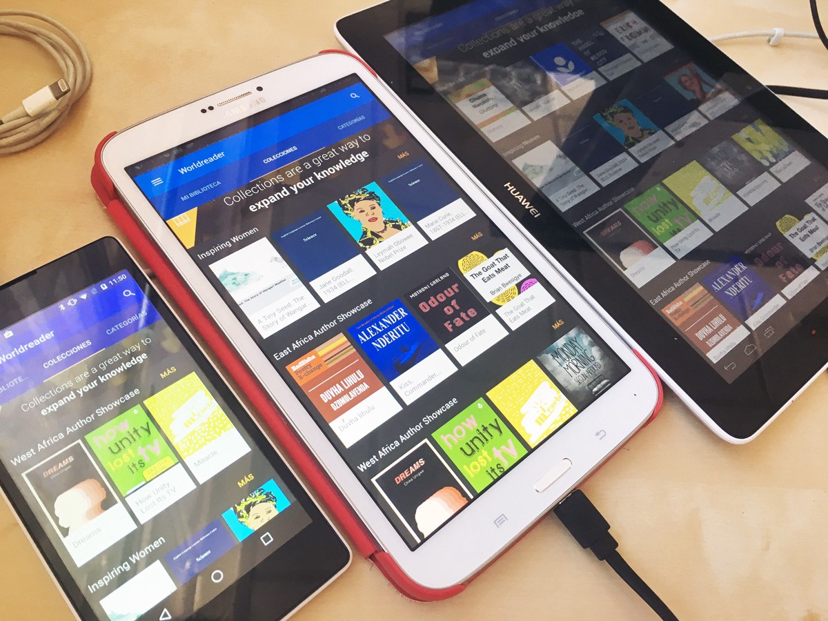 The Worldreader app across devices