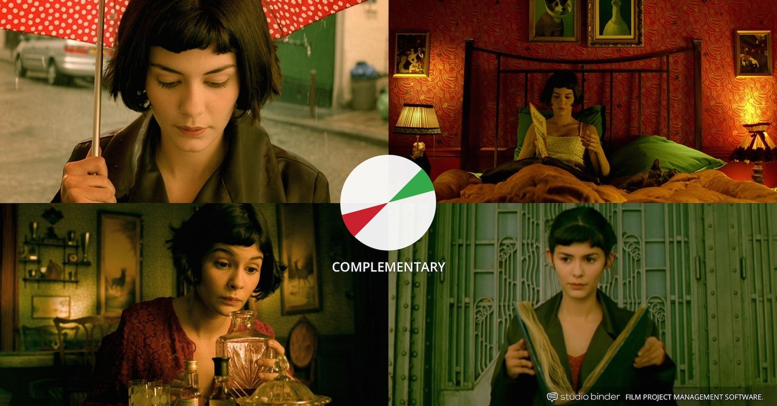 How to Use Color in Film – Example of Movie Color Palette and Schemes – Complementary – Amelie-min