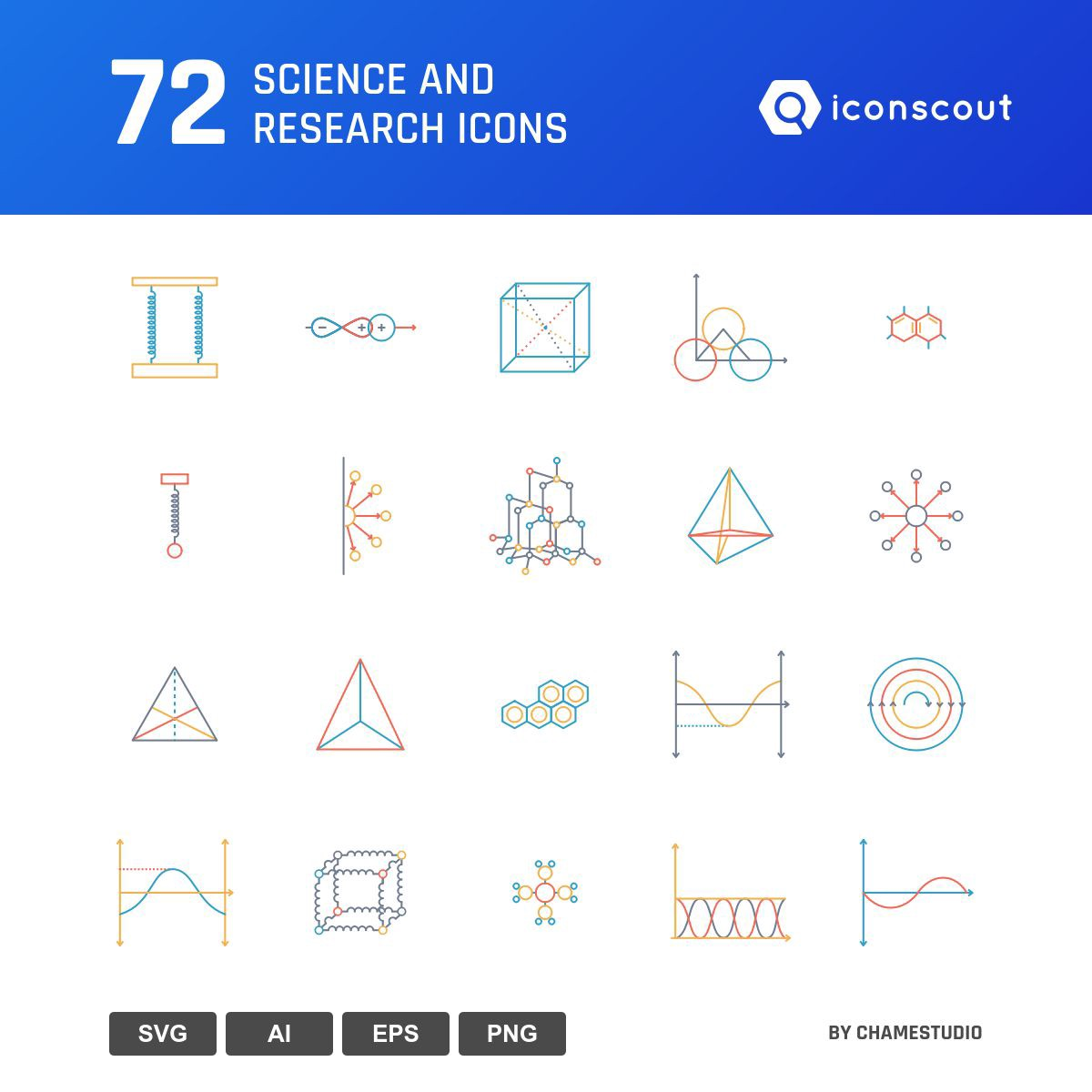 Science And Research icons by Chamestudio