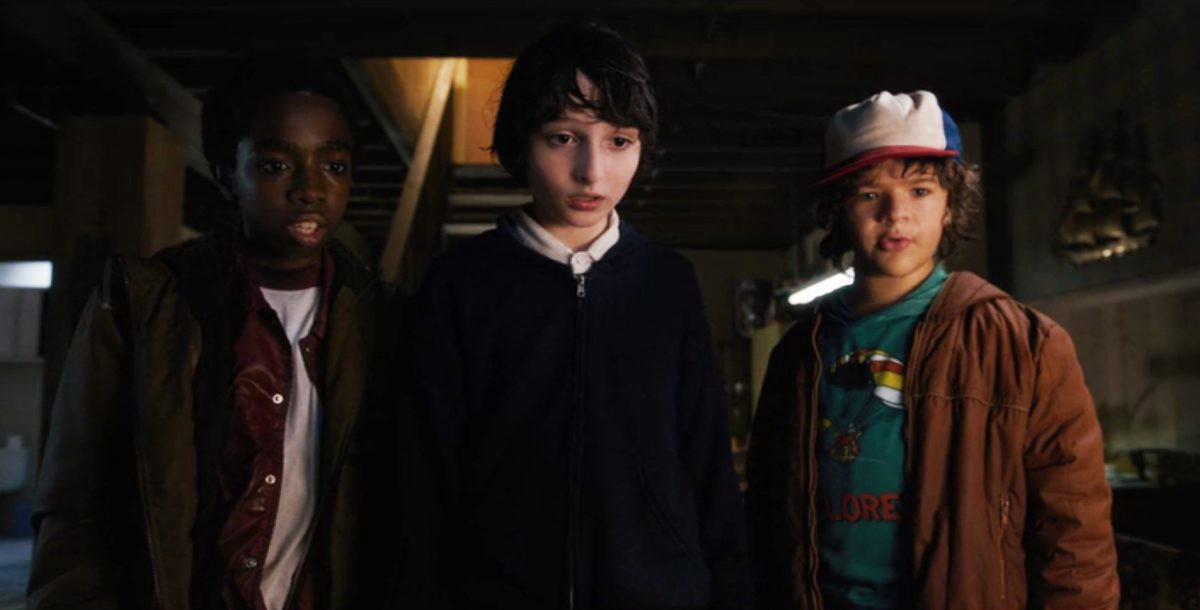 Stranger Things: Lucas, Mike, and Dustin