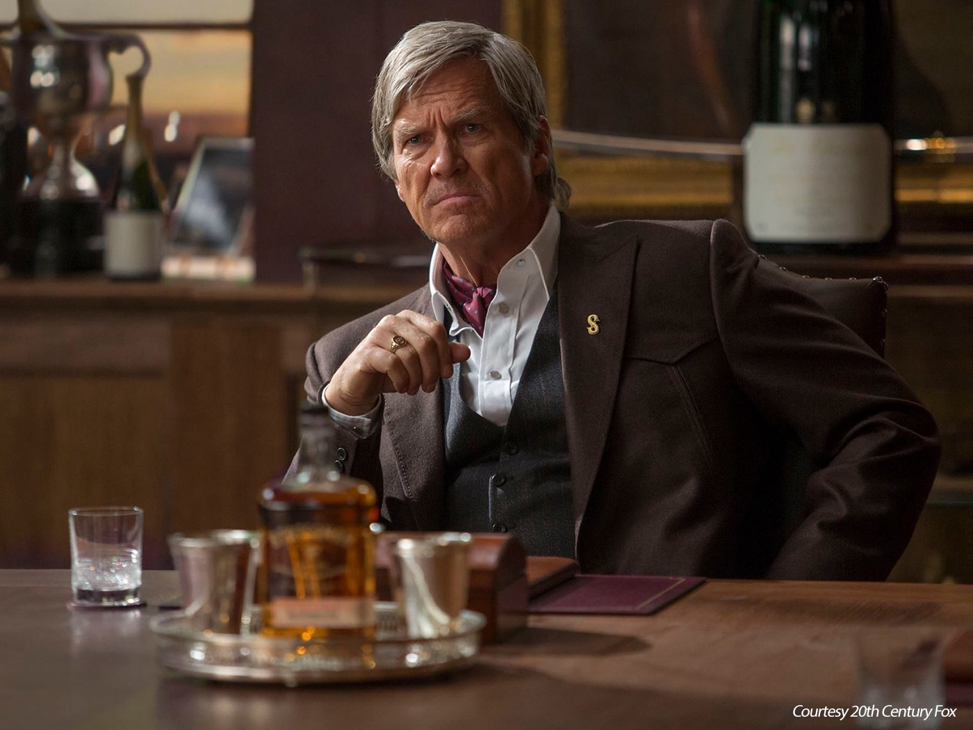 """Jeff Bridges as """"Champ,"""" the leader of Statesman in """"Kingsman: The Golden Circle."""" Photo courtesy 20th Century Fox."""
