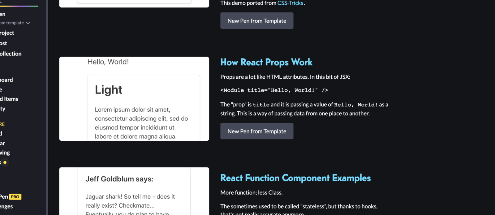 Create simple, general-purpose modular things with #React and play