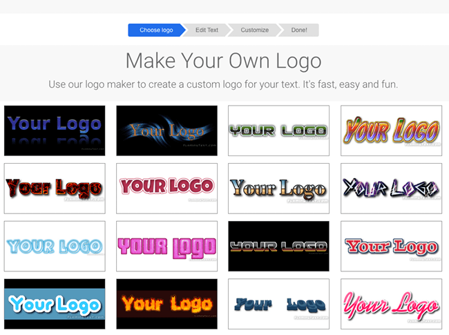 how to create own logo