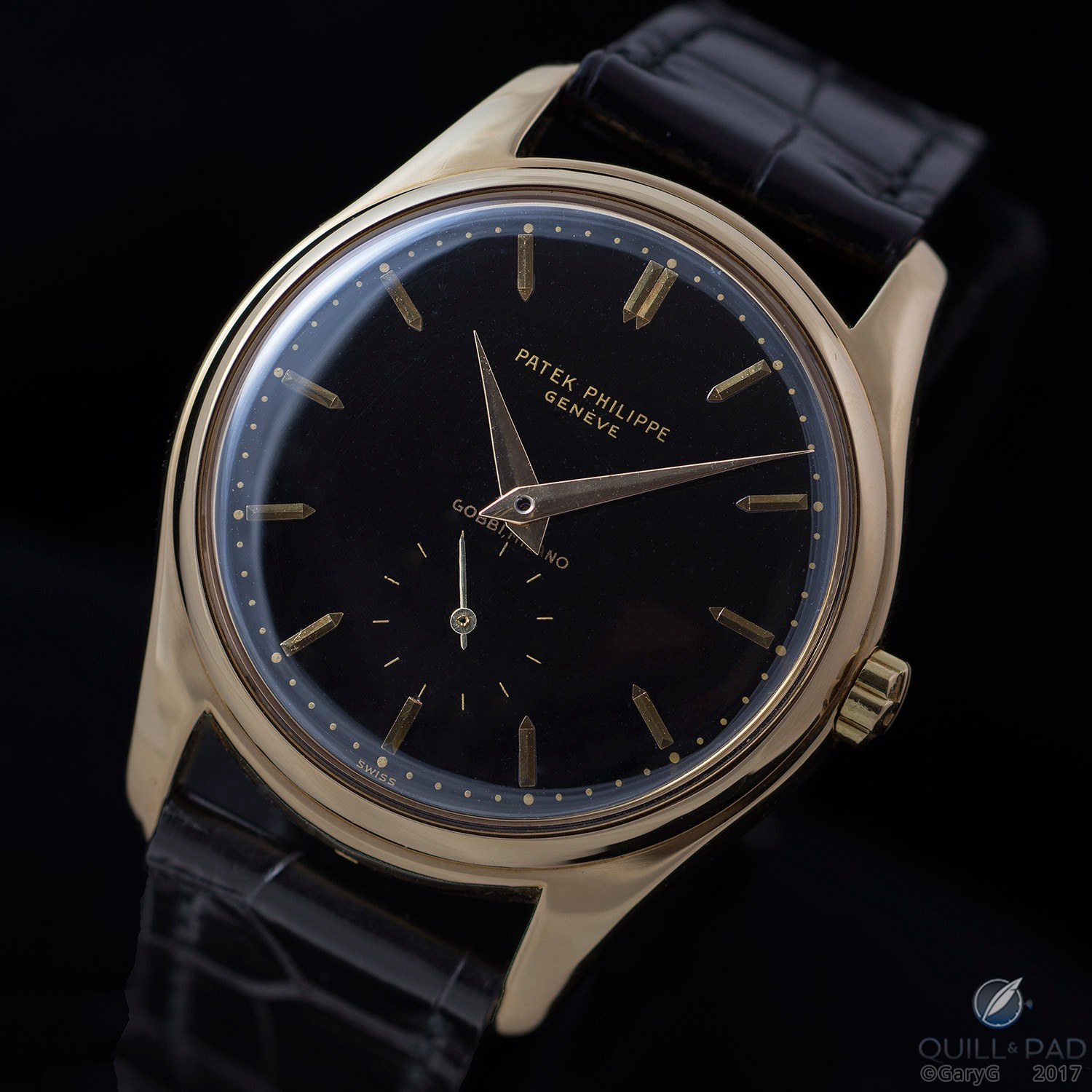 Classic looks: Patek Philippe Reference 2526 with black enamel dial