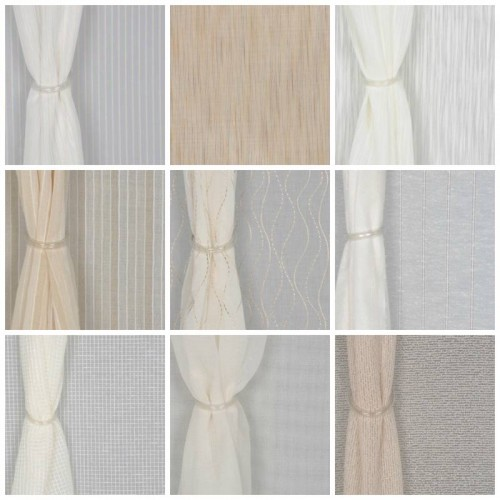 RM Coco Sheer Curtain Fabrics With Lines