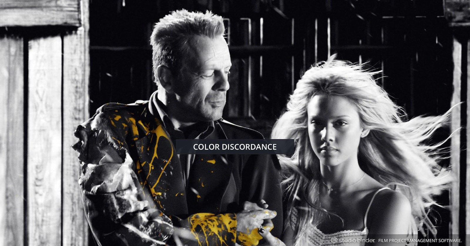 How to Use Color in Film – Example of Movie Color Palette and Scheme – Color Discordance – Sin City-min