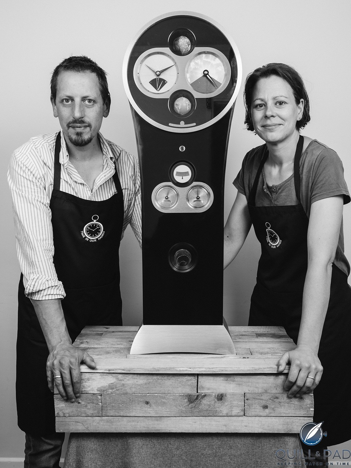 George and Cornelia de Fossard and their Solar Time Clock