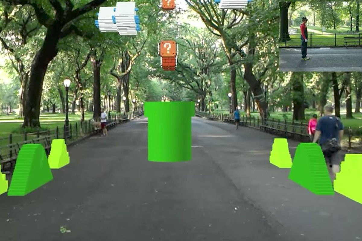 Check Out This Augmented Reality Version of 'Super Mario Bros.' Iconic First Level