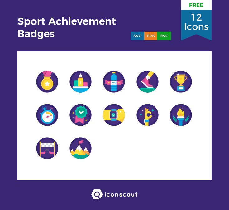 Sport Achievement Badges icons by Laura Reen