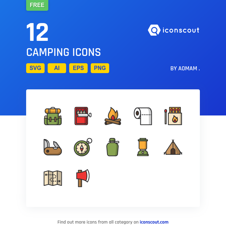 Camping icons by AomAm .