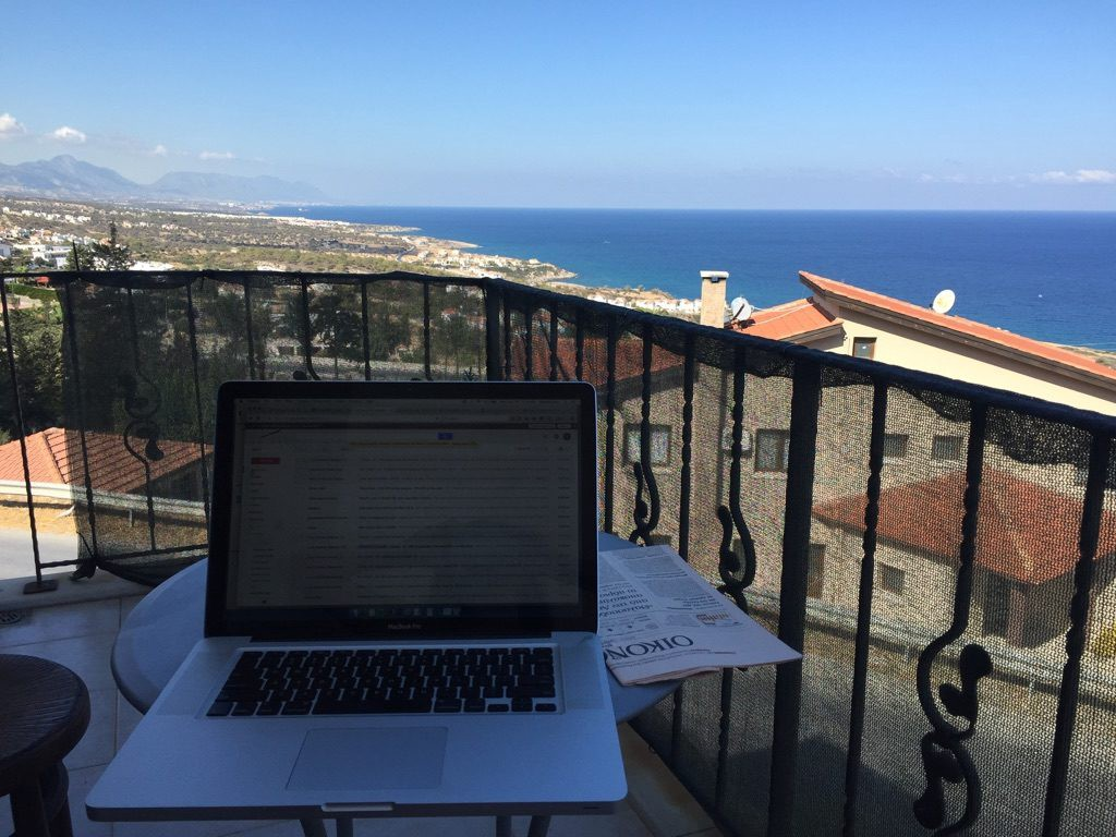 Serina's office in Cyprus.
