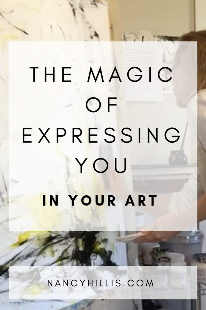 The Magic Of Expressing YOU In Your Art | If you want to create raw, immediate and alive paintings that express YOU, yet find yourself struggling with your art, then this post is for you. Click through to find out how to finally express YOU in your art.