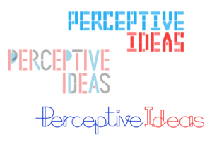 Perceptive Ideas logo exploration