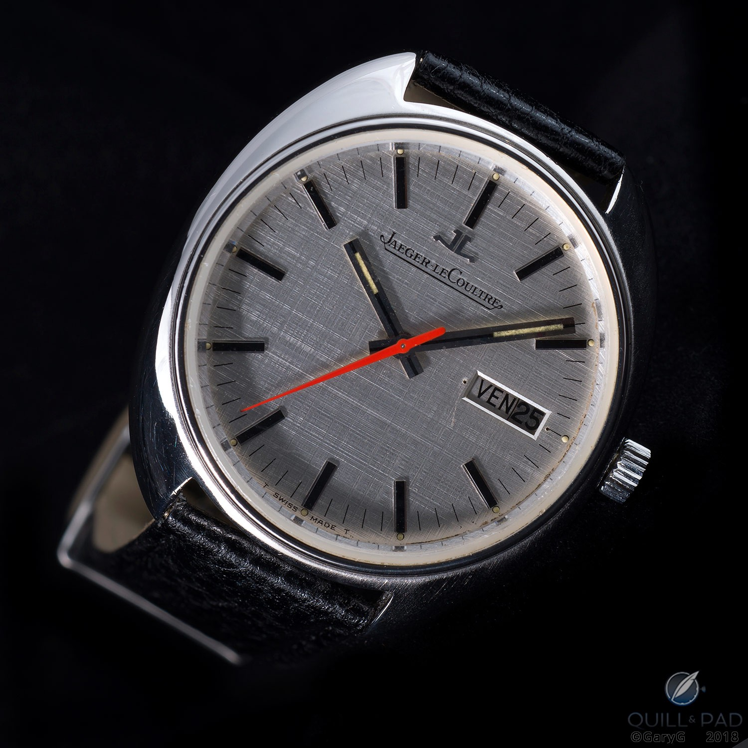 Sweeping statement: Jaeger-LeCoultre prototype watch with bright sweep seconds hand