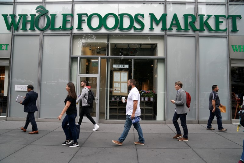 A Whole Foods Market is pictured in the Manhattan borough of New York City