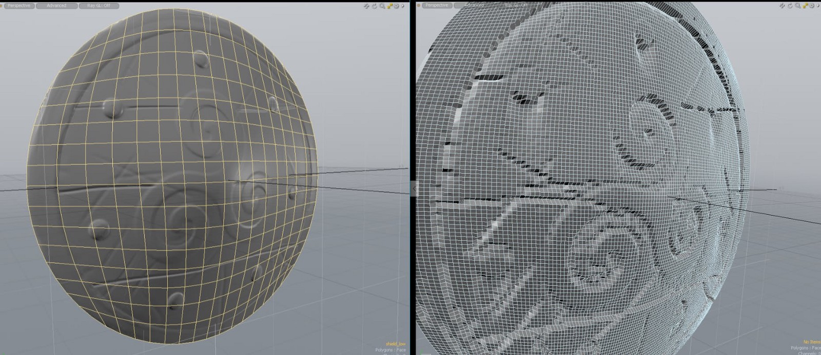 Left: Normal Map Right: Displacement Map