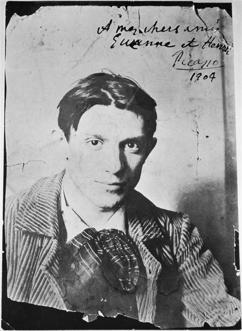 Picasso in 1904. Photograph by Ricard Canals