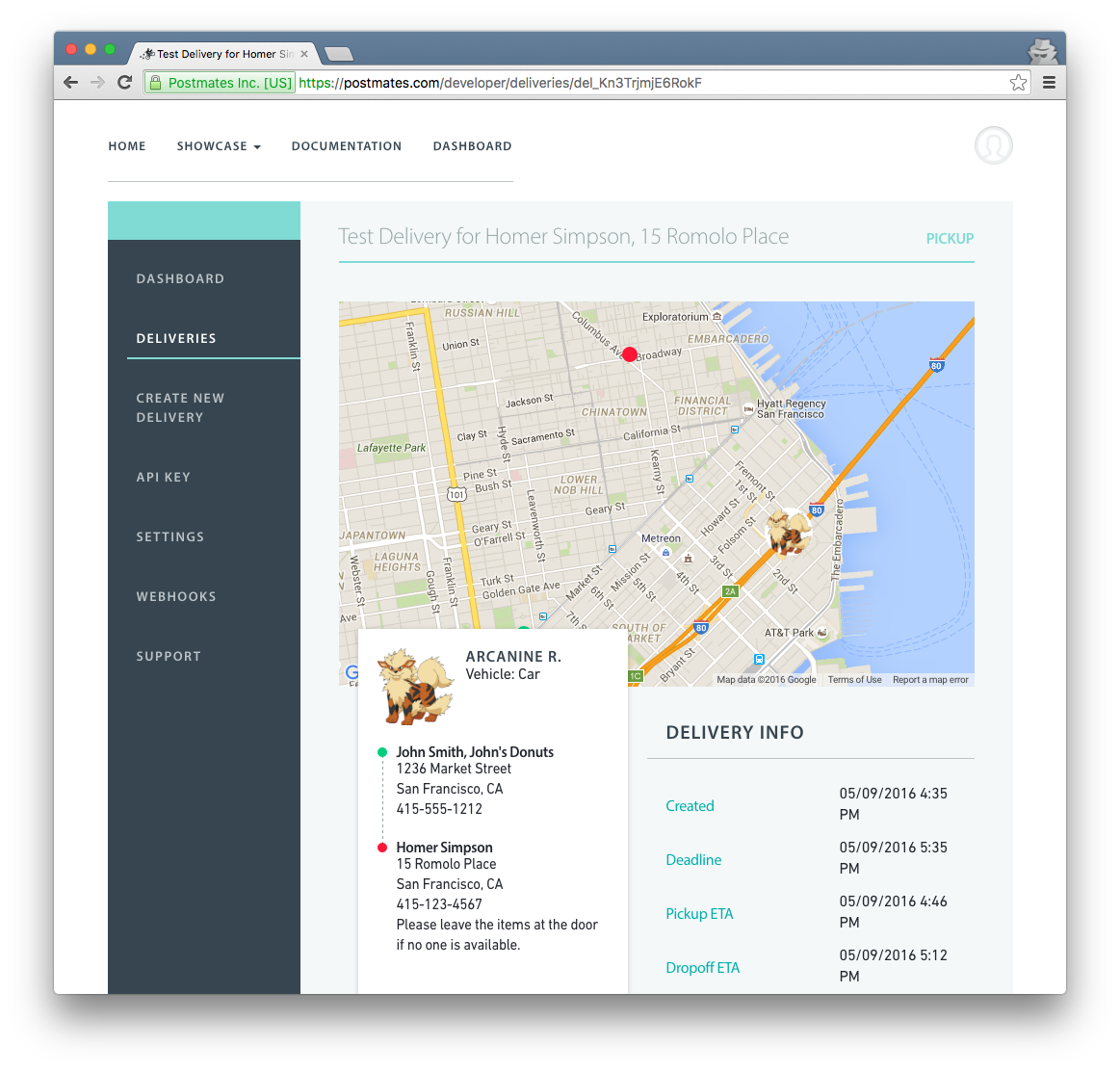create deliveries from your dashboard postmates