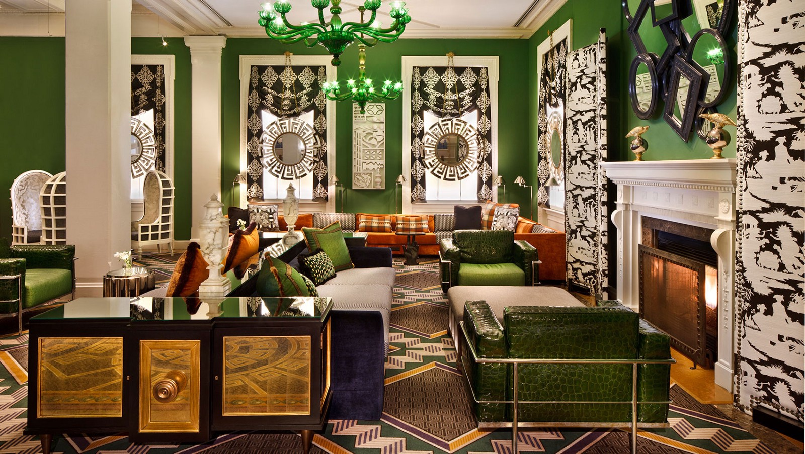 Hotel Interior Design Pschology of Color | Fohlio | green | Kimpton Hotel Monaco, DC