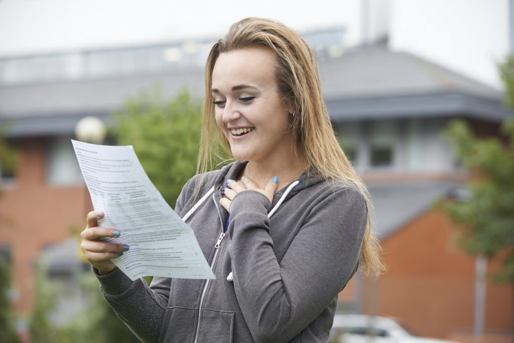 Teenage Girl Happy With Good Exam Results