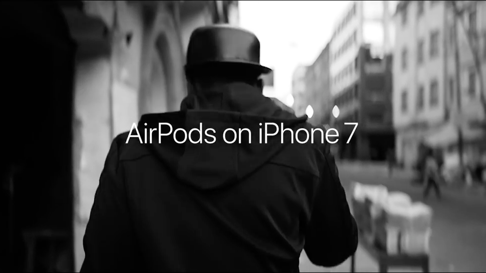 Apple iPhone 7 and AirPods 'Stroll' TV commercial