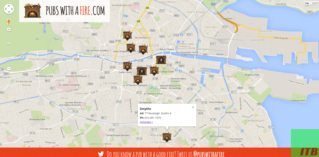 Find Pubs With A Nice Fire Easily With Pubs With A Fire Web App