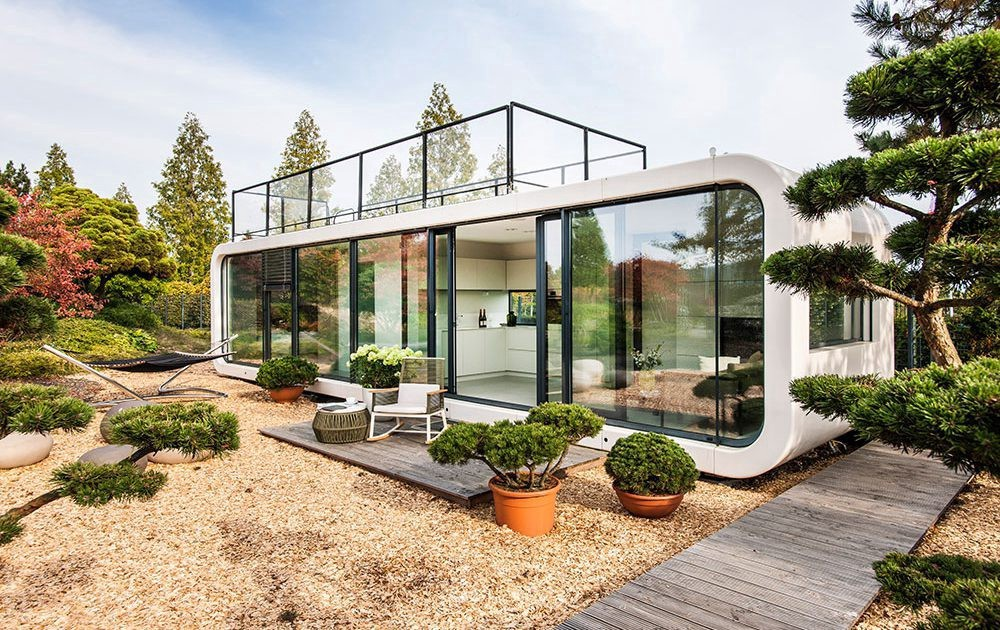 Sustainable Design in a prefab modular house