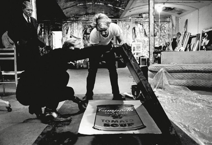 Andy Warhol in The Factory. Photo via Phaidon