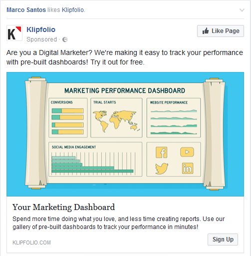 in-feed social ad