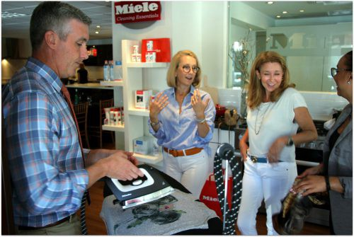 The Miele Steam Iron System has a heated ironing board as well as a blower