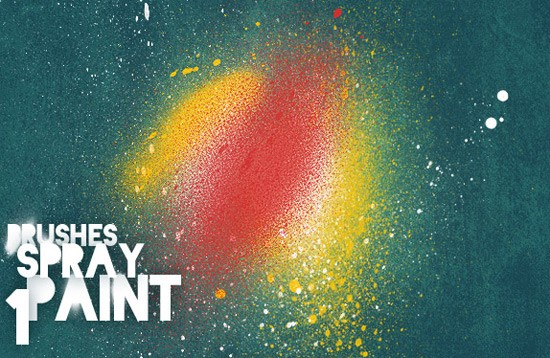 realistic spray paint - useful Photoshop brushes