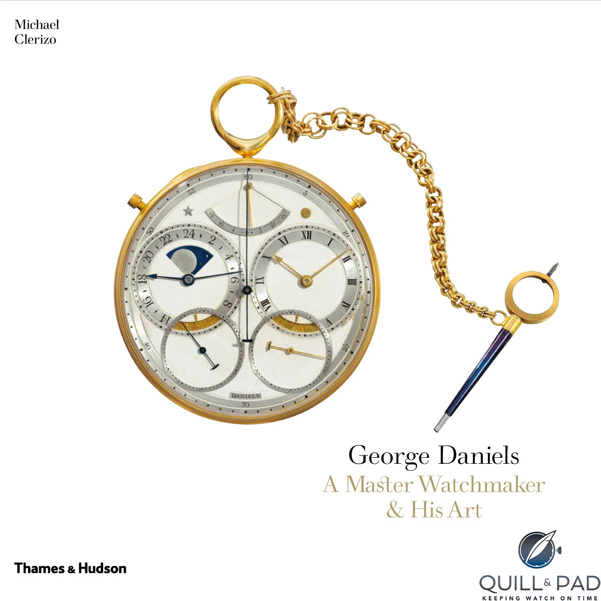 Cover of Michael Clerizo's book, 'George Daniels, A Master Watchmaker & His Art'