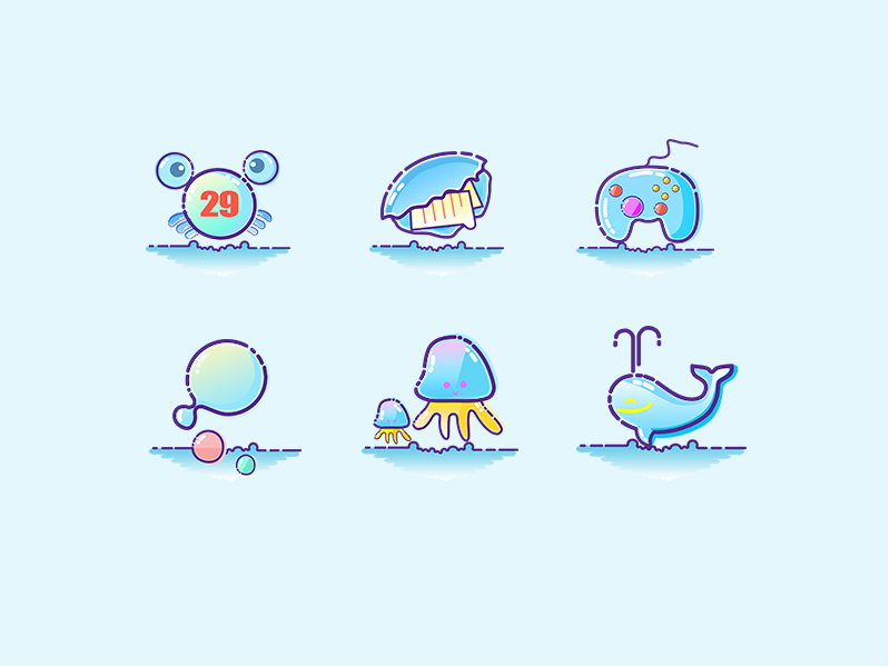Sea icons by Coco1129
